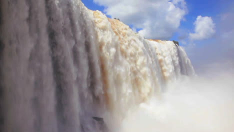 The-beautiful-Iguacu-waterfall-thundering-into-a-chasm