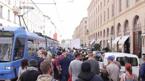 European-protestors-take-to-the-streets-to-protest-membership-in-NAT-and-other-peace-issues-1