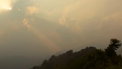 A-heavenly-sky-with-the-sun-shining-through