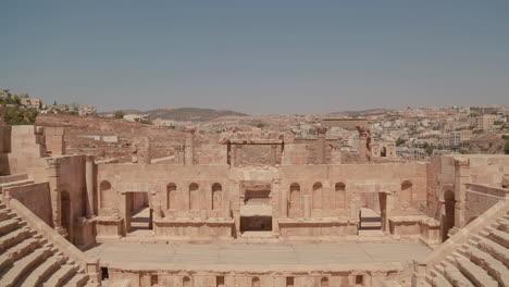 An-establishing-shot-of-Amman-Jordan-with-Roman-ruins-foreground-1