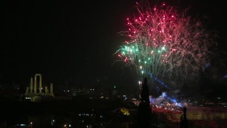 Huge-fireworks-display-in-the-sky-above-Amman-Jordan-