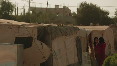 Tiendas-De-Campaña-Para-Refugiados-Sirios-Cerca-De-Una-Zona-Urbana-En-Ammán-Jordania
