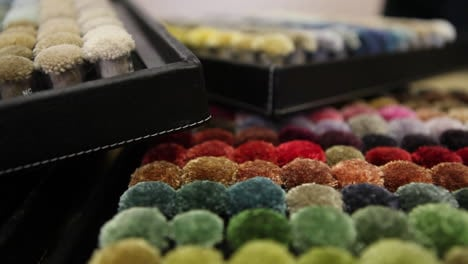 Textile-samples-are-presented-on-a-pallette