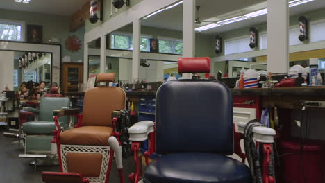 Nice-moving-shot-inside-an-old-fashioned-americana-barber-shop