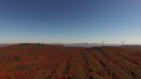 An-aerial-over-a-wind-farm-in-a-beautiful-area-of-New-England-in-fall