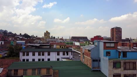 Rising-aerial-establishing-shot-of-downtown-Bogota-Colombia