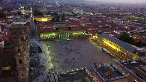 Nice-dusk-aerial-shot-over-downtown-Bogota-Columbia-2