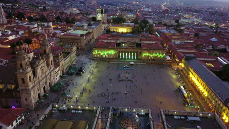 Nice-dusk-aerial-shot-over-downtown-Bogota-Columbia-3