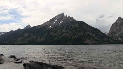 A-beautiful-lake-in-front-of-the-Grand-Tetons-mountains