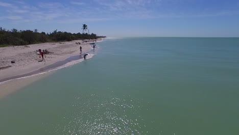 An-aerial-over-the-beach-at-Captiva-Island-Florida