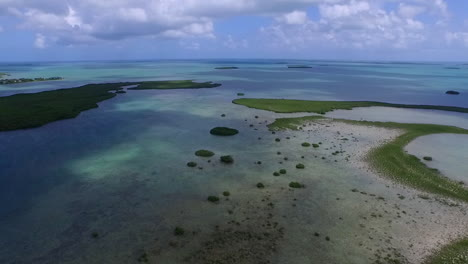 An-aerial-shot-over-a-mangrove-island-in-Florida