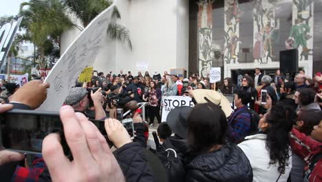 Protestors-in-Hollywood-marching-and-chanting-against-the-Dakota-access-pipeline-6