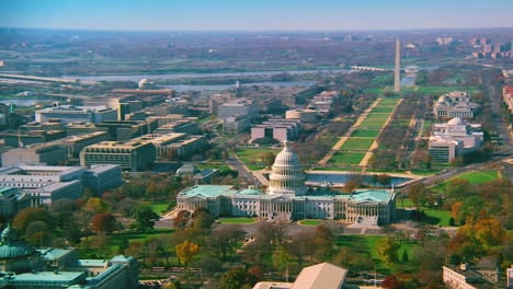 Good-aerial-over-capitol-dome-Congress-and-Washington-Monument-in-Washington-DC