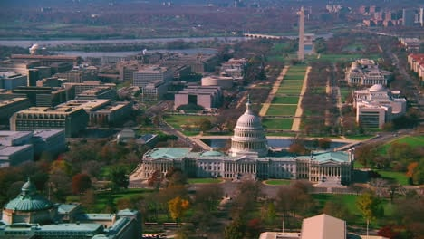 Good-aerial-over-capitol-dome-Congress-and-Washington-Monument-in-Washington-DC-2