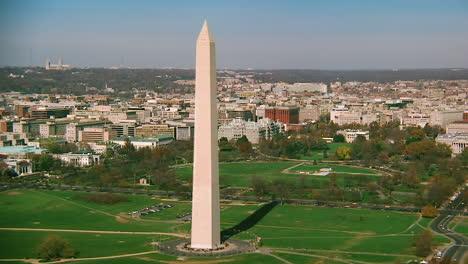 Buena-Antena-Sobre-El-Monumento-De-Washington-Y-La-Casa-Blanca-De-Washington-Dc
