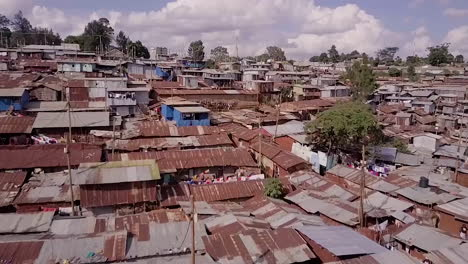 Remarkable-aerial-shot-above-vast-overpopulated-slums-in-Kibera-Nairobi-Kenya-Africa-1