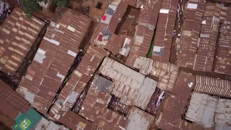 Aerial-shot-looking-straight-down-above-vast-overpopulated-slums-in-Kibera-Nairobi-Kenya-Africa-1