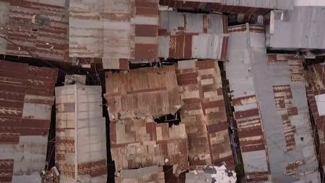 Aerial-shot-looking-straight-down-above-vast-overpopulated-slums-in-Kibera-Nairobi-Kenya-Africa-2