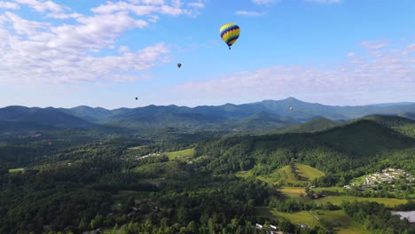 An-Excellent-Aerial-Shot-Of-Hot-Air-Balloons-Flying-Over-Asheville-North-Carolina-1