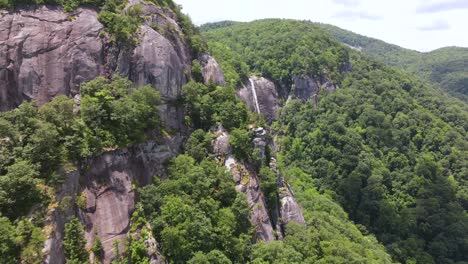 An-Excellent-Aerial-Shot-Of-The-Greenery-Surrounding-Hickory-Nut-Falls-In-Chimney-Rock-North-Carolina-1