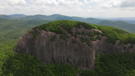 An-Excellent-Aerial-Shot-Of-Looking-Glass-Rock-In-Pisgah-National-Forest-North-Carolina-1