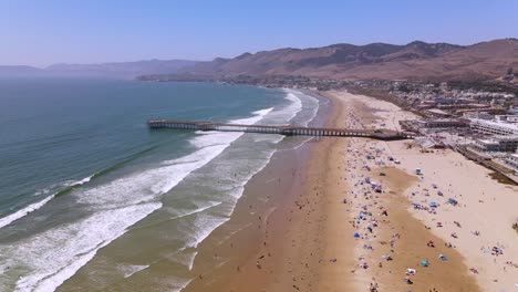 An-Excellent-Aerial-Shot-Of-Tourists-Enjoying-Pismo-Beach-California-2
