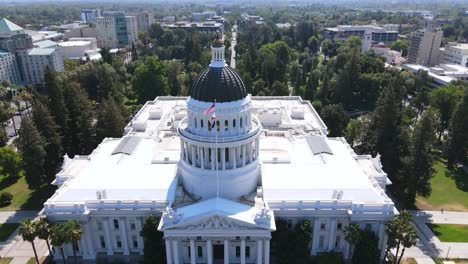 An-Excellent-Aerial-Shot-Of-The-Capitol-Building-In-Sacramento-California