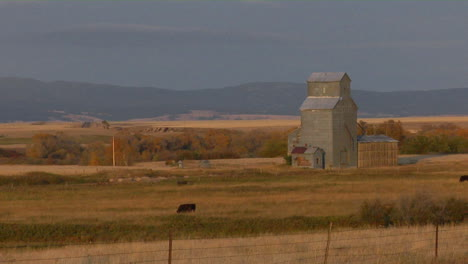 A-Grain-Silo-Stands-On-The-Open-Prairie