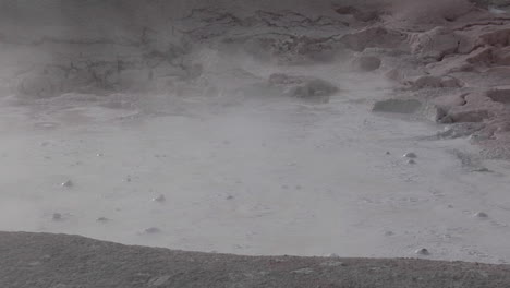 A-Gray-Mud-Pit-Bubbles-At-Yellowstone-National-Park