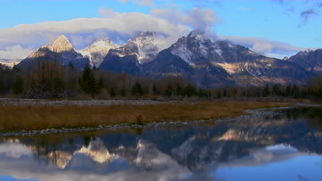 The-Grand-Teton-Mountains-Are-Perfectly-Reflected-In-A-Mountain-Lake