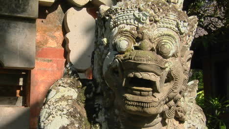 A-Balinese-God-Stone-Carving-Guards-A-Temple