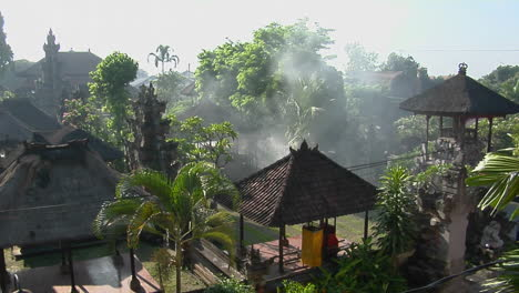 Smoke-Rises-From-The-Middle-Of-The-Balinese-Village-In-Indonesia
