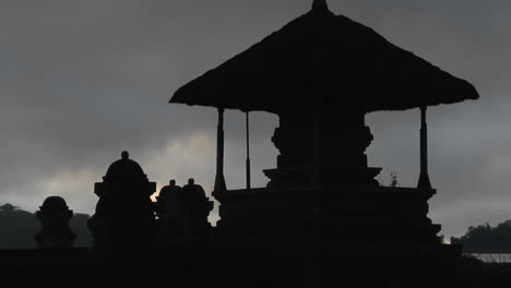 A-Balinese-Temple-Stands-In-Silhouette