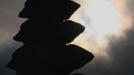 Part-Of-A-Balinese-Temple-Stands-In-Silhouette
