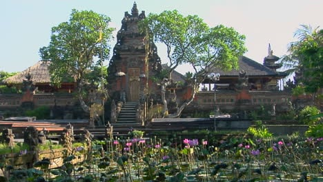 Gardens-Surround-The-Lotus-Temple-In-Bali