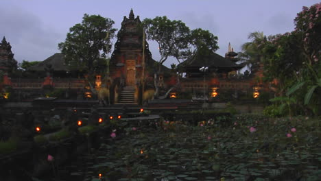 Lights-Flicker-On-The-Grounds-Of-A-Temple-In-Bali-Indonesia