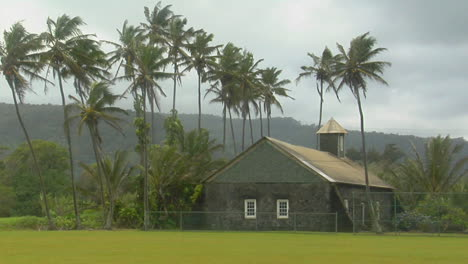 A-Church-Stands-On-A-Tropical-Island-During-A-Wind-Storm
