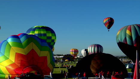 A-Timelapse-Shot-Of-Balloons-Filling-And-Taking-Off-At-The-Albuquerque-Balloon-Festival