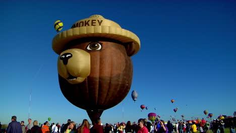 A-Smokey-The-Bear-Balloon-At-The-Albuquerque-Balloon-Festival
