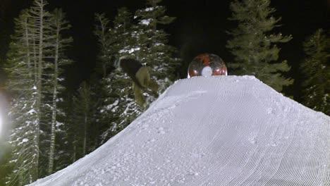 A-man-rides-a-snowboard