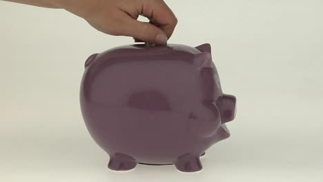 A-woman-s-hand-puts-a-coin-into-a-pink-piggy-bank-1