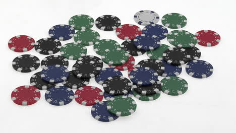A-poker-player-s-hands-gather-a-pile-of-poker-chips