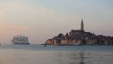 A-massive-sailing-vessel-appears-of-the-coast-of-Istria-Croatia