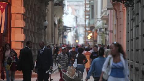 People-crowd-the-streets-of-Old-Havana-Cuba