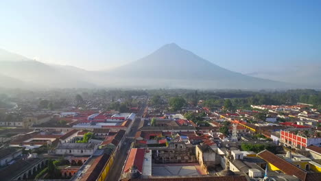 Beautiful-aerial-shot-over-the-colonial-Central-American-city-of-Antigua-Guatemala-3