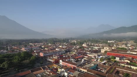 Beautiful-aerial-shot-over-the-colonial-Central-American-city-of-Antigua-Guatemala-4