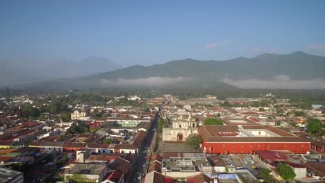 Beautiful-aerial-shot-over-the-colonial-Central-American-city-of-Antigua-Guatemala-5