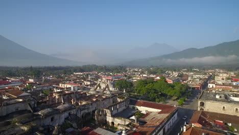 Beautiful-aerial-shot-over-the-colonial-Central-American-city-of-Antigua-Guatemala-6