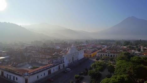 Beautiful-aerial-shot-over-the-colonial-Central-American-city-of-Antigua-Guatemala-8