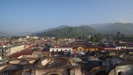 Beautiful-aerial-shot-over-the-colonial-Central-American-city-of-Antigua-Guatemala-9